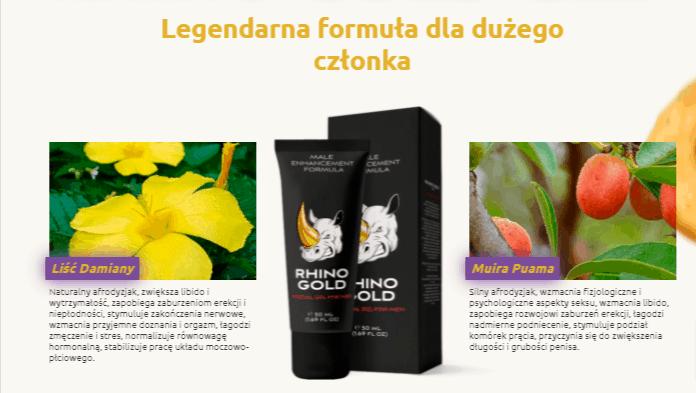 rhino gold gel skład działanie efekty ulotka forum