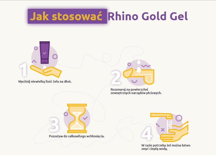 Rhino Gold Gel stosowanie